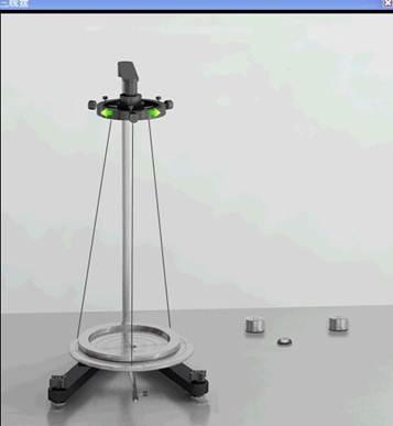 三线摆法测刚体的转动惯量图片