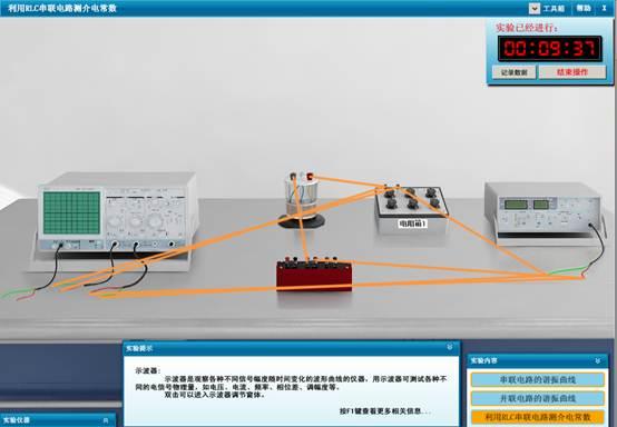 测量并联电路谐振曲线